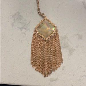 Kendra Scott Long Tassel Necklace- Rose Gold